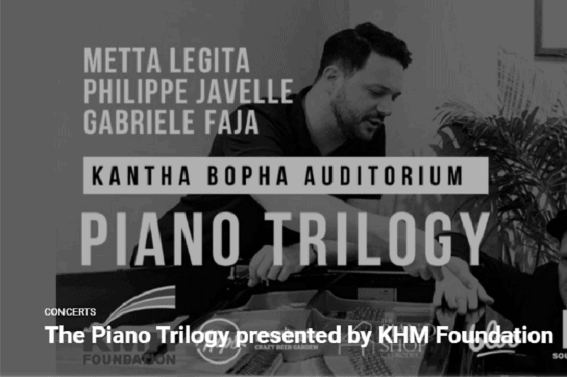 Piano Trilogy : a night of jazz music in Siem Reap